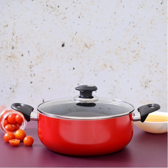 Royal ford RF1250C20   Non-Stick Ceramic Casserole with Lid 20 cm– Durable Non-stick Coating, High-Quality Construction with Heat Resistant Handle | Dishwasher Safe | Non-Stick Dish for Gas & Ceramic Hobs