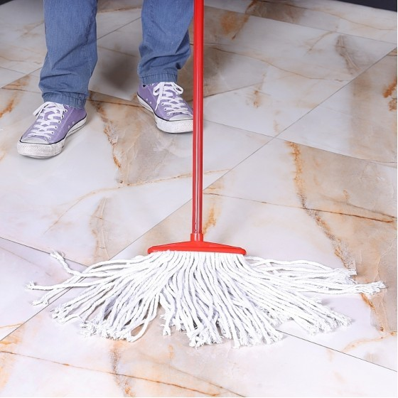 Royalford RF1507FW/S Cotton String Floor Mop with Stick, 40 CM