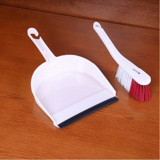 Royalford RF2368-DPW/B Dust Pan with Cleaning Brush
