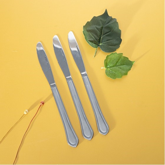 Royalford RF3000 Stainless Steel Table Knife Set, 3 Pcs