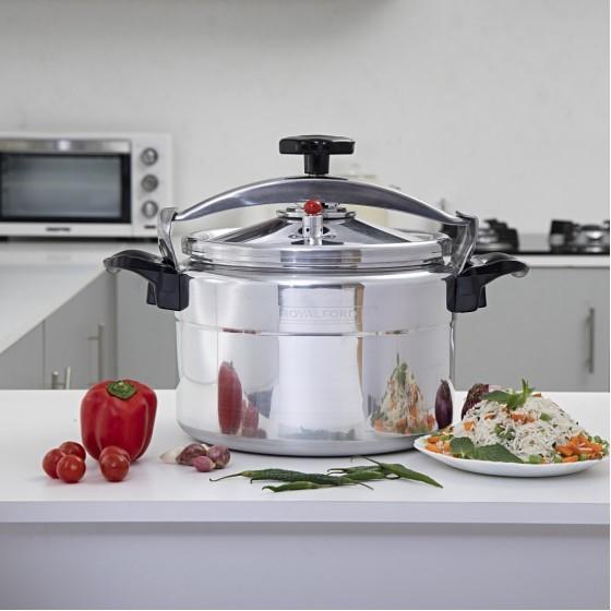 Royalford RF355PC11 Aluminium Pressure Cooker, 11L