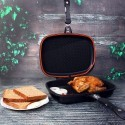 Royalford RF5515 Non-Stick Double Grill Pan, 32 CM