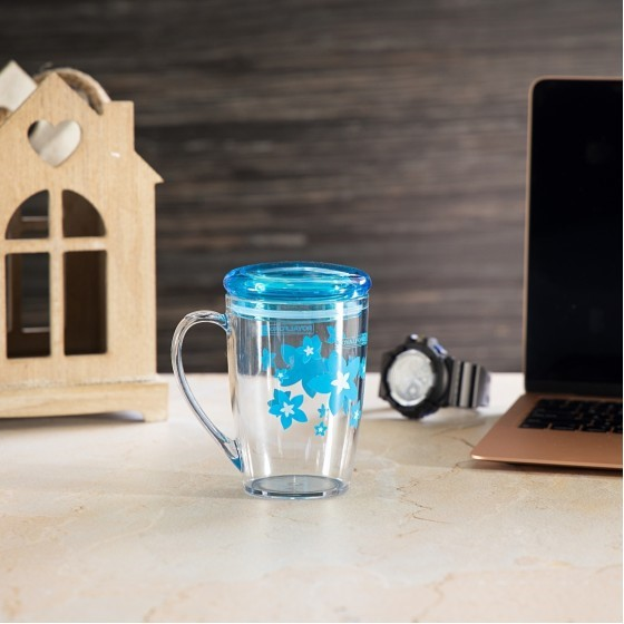 Royalford RF5656 Acrylic Cup With Lid, 350 ML