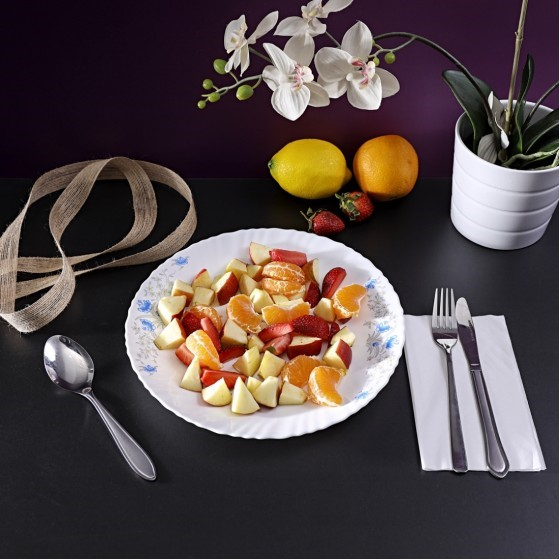 Royalford RF5678 Opal Romantic Dinner Plate, 10.5 Inch