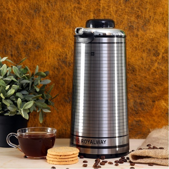 Royal ford  RF5753 Royalford 1.3L Vacuum Flask -  Heat Insulated Thermos for Keeping Hot/Cold Long Hour Heat/Cold Retention, Multi-Walled, Hot Water, Tea, Beverage | Ideal for Social Occasion, Commercial & Outings