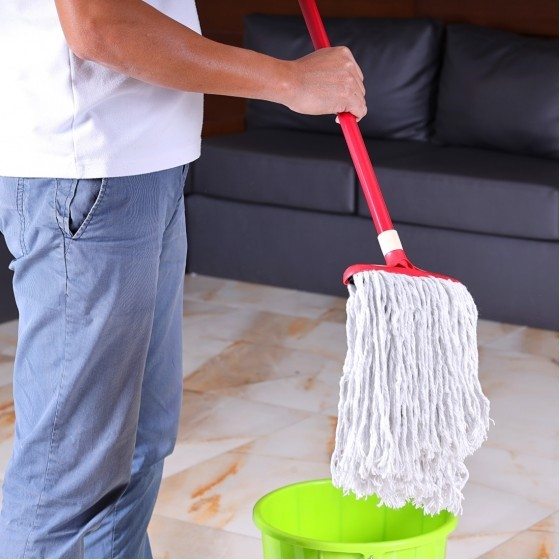 Royalford RF5826 Cotton String Mop with Plastic Handle