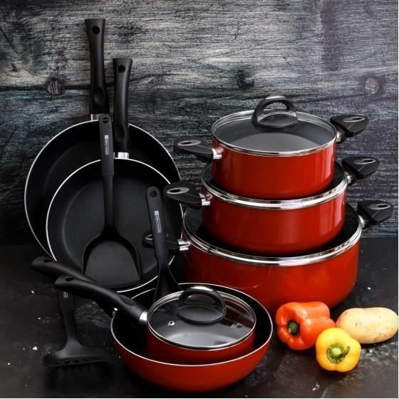 Royalford RF5857 Non-Stick Cookware Set, 16 Pcs