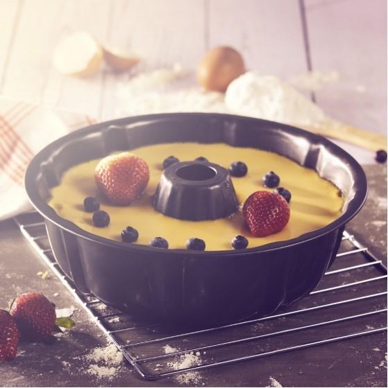 Royalford RF7032 Charlotte Bund-Form Baking Pan, 25.5x8 CM, 4 Pcs | Bundt Cake Baking Tin, Ring Cake Tin, Kitchen Baking Equipment, Cake Pan