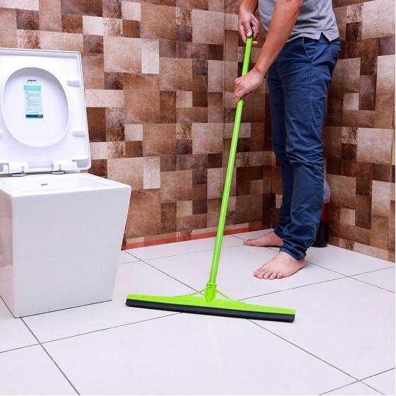 Royalford RF7145 Floor Wiper - Commercial Standard Floor Squeegee 120cm Long Handle for Wet Room, Floor, Windows, Tile, Shower, Garage | Hanging Loop with Broad Wiper