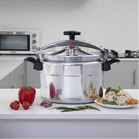 Royalford RF7600 Aluminium Pressure Cooker, 5L