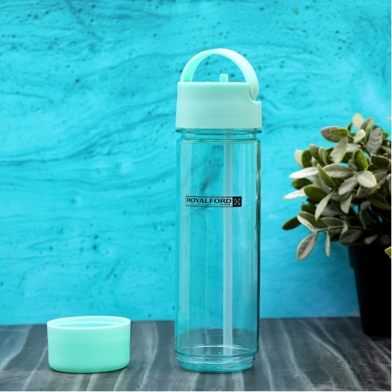 Royalford 680ml Tritan Blowing Bottle – Fresh Water to Keep You Hydrated – Portable and Leak-Resistant, BPA Free, Easy Handling, Ideal for Sports