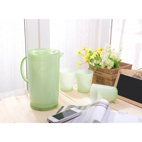 Royalford Plastic Water Jug with Glasses