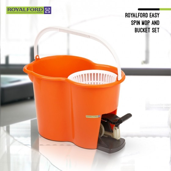 Royalford Easy Spin Mop and Bucket Set (Pedel)