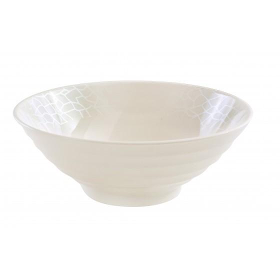 Melamine White Pearl Bowl, 9 Inch