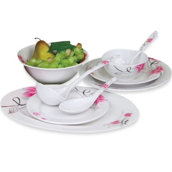 Royalford RF6719 Melamine Dinner Set, 45pieces
