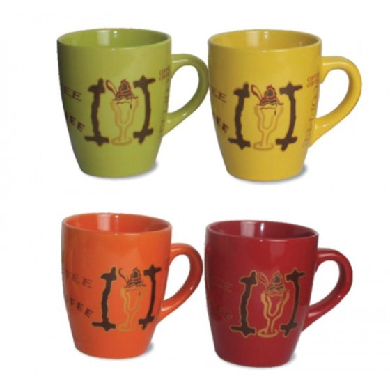 Porcelain Coffee Mug Set, 11 Oz