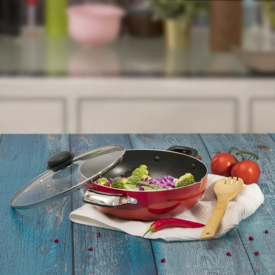 RoyalFord RF324WP26  Non-stick Wok Pan With Lid, 26cm