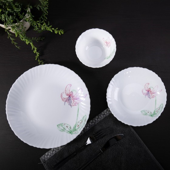 Royalford 82 Pcs Dinner Set Floral Design