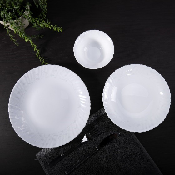 Royalford 82 Piece Dinner Set Flora Series
