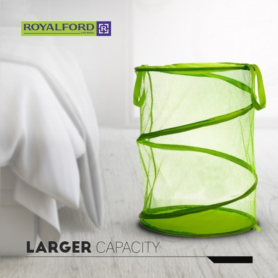 Royalford Pop-Up Collapsible Mesh Laundry Hamper