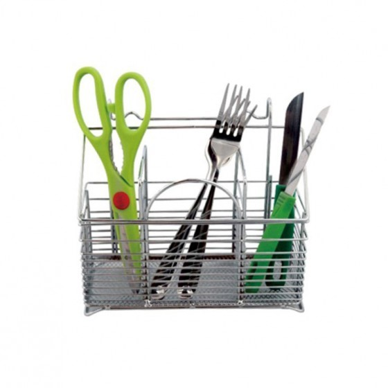 Metal Spoon Holder - Portable Lightweight Napkin Holder & Condiment Organizer | Multi-Purpose Metal Caddy | Ideal for Kitchen, Dining, Entertaining, Tailgating, Picnics, and Much More