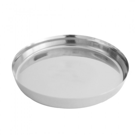11-inch Stainless Steel Thali Plate - Round Quarter Plate | Dishwasher Safe | Thali for Multi-Purpose | Ideal for Home, Hostel. Hotel & Restaurants