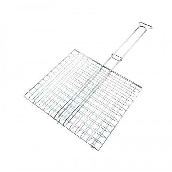 Royalford RF5378 BBQ Grill - Companion Ultimate Rectangular-Shaped Grilling Basket | Removable Handle | Perfect for Grilling Vegetables, Fishes, Shrimp, Chops, Chicken Wings & More