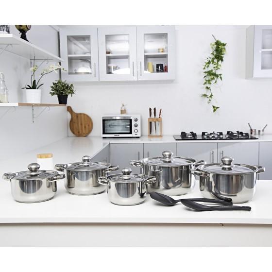 12Pc SS Cookware Set