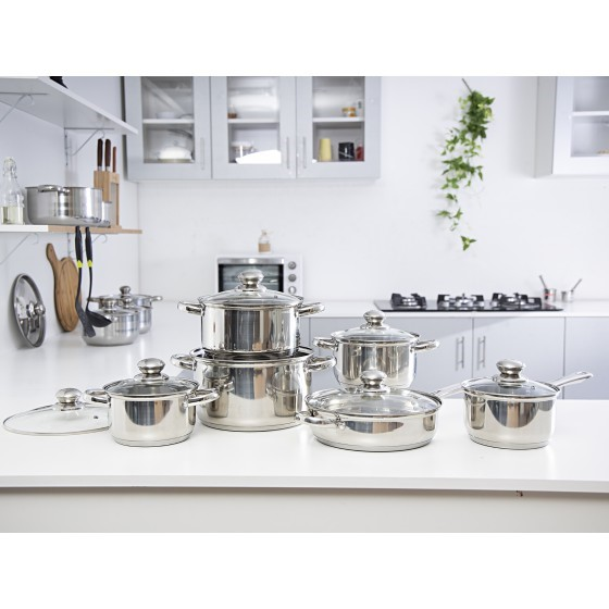 Royalford RF5124 Stainless Steel Cooking Set, 12piece Set