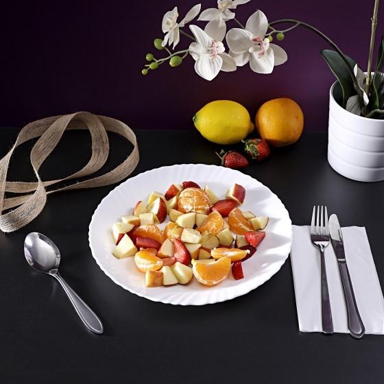 Royalford RF4525 Opal Spin White Dinner Plate, 10.5