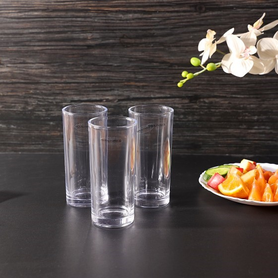 Royalford RF1101-GT6 Highball Glass Set, 3pieces