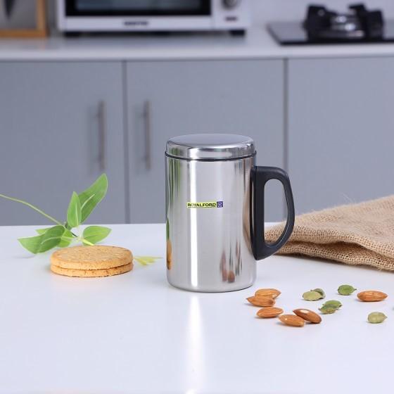 Royalford RF5026 Stainless Steel Travel Mug, 350ml