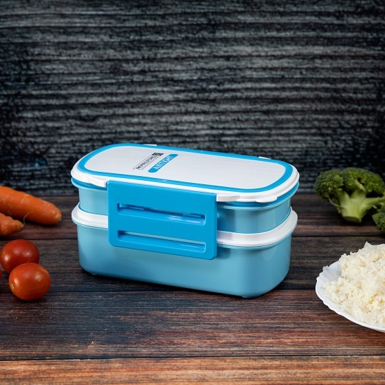 Air Tight Lunch Box With 2 Layer 1X12