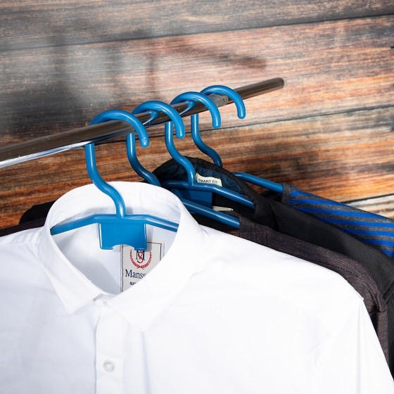 Royalford RF5426 Hangers Set of 5 Pcs - Home Premium Coat Hangers Set for General Use - 360 Rotating Swivel Hook, for Ties - High-Quality Polymer Construction, Universal Colours & Non-Slip Design