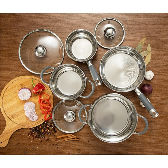 Royalford RF5123 Stainless Steel Cookware Set, 7pieces