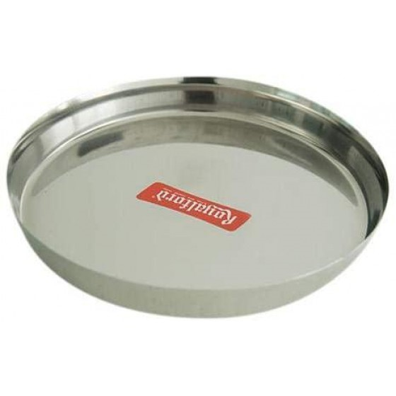 Royalford RF5340 13-inch Stainless Steel Thali Plate - Round Quarter Plate | Dishwasher Safe | Thali for Multi-Purpose | Ideal for Home, Hostel, Hotel & Restaurants