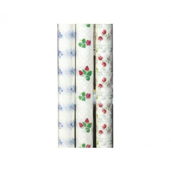 20M PVC Table Roll - Tablecloth Cover Protector | Tablecloth Daisy Silver, Small Polka Floral, Wipe Clean, Vinyl / Plastic Table Cloth | Spill Proof Reusable Roll (Multi Colour)