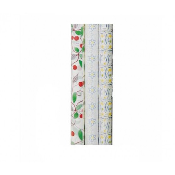 Royalford RF4679 20M Table Roll - Tablecloth Cover Protector | Tablecloth Daisy Silver, Small Polka Floral, Wipe Clean, Table Cloth | Spill Proof Reusable Roll | Ideal Dinning Table, Hall, & More (Multi Colour)