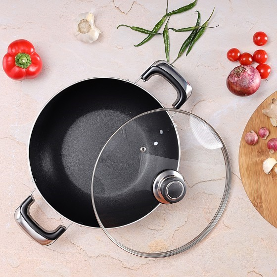 RoyalFord RF2949 Non-stick Wokpan With Lid, 30cm