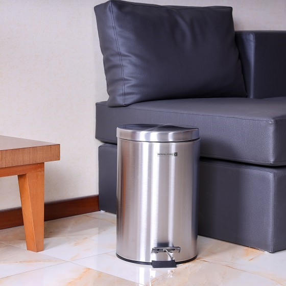 Royalford 12L Stainless Steel Pedal Bin