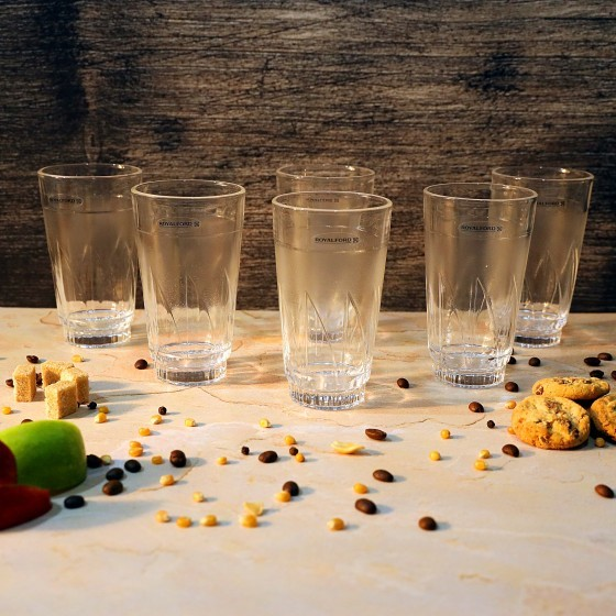 Royalford RF2654-GT6 Glass Tumbler Set, 6pieces