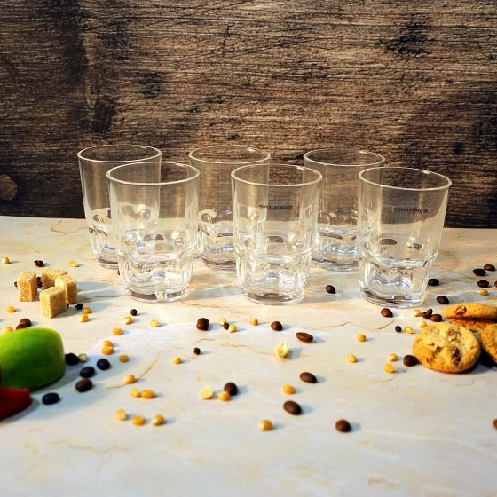 Royalford RF1096-GT6 Glass Tumbler Set, 6pieces