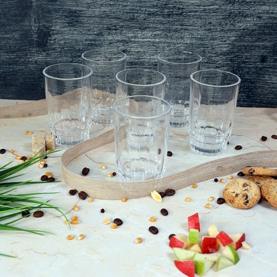 Royalford RF1385-GT6 Glass Tumbler Set, 6pieces