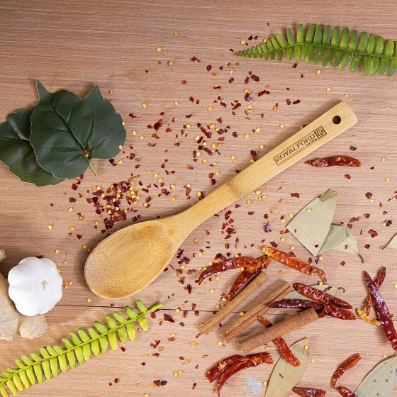 Royalford Bamboo Serving Spoon