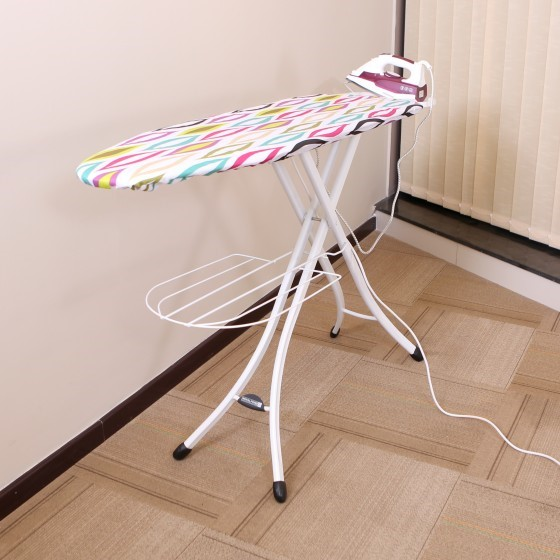 Mesh Ironing Board with Socket, 122x38 CM