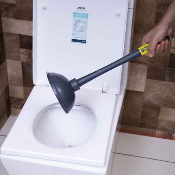 Royalford RF2371GR Toilet Plunger | Tested & Proven to Clear & Unblock Tough Drain Blockages | More Powerful Than Traditional Toilet Plungers | Unblocks All Toilets with Unique Bellows Design | Heavy Duty