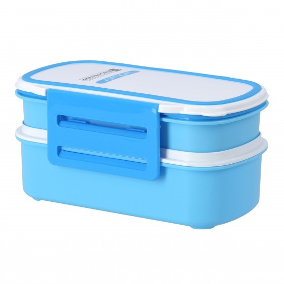 Royalford Airtight Lunch Box with 2 Layer - Portable & Practical Lunch Box Student Lunch Box Thick-Layer Compartment Microwave/Dishwasher Safe | Food Storage Box Set for Office Worker Food Container