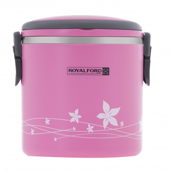 Royalford 1.80L Lunch Box - Portable Stainless Steel Stackable Compartment Lunch/Snack Box, 2-Tier Bento /Food Container, Leak-proof | Microwave & Dishwasher | Ideal for Office Trekking & More