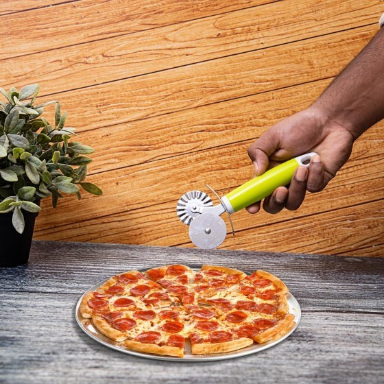 Royalford Stainless Steel Double Wheel Pizza Cutter