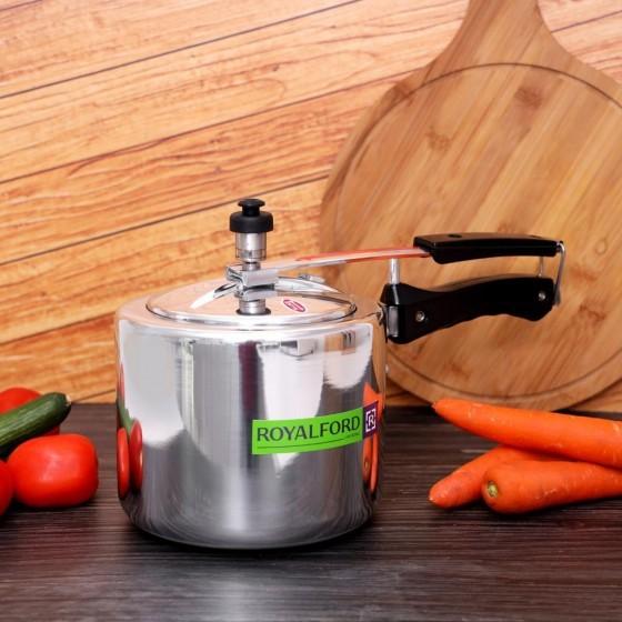 Royalford RF6540 Aluminium Pressure Cooker, 3L